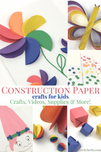 Check out these fun Construction Paper Crafts for Kids! Fun DIY kids craft videos, supply suggestions, and more!