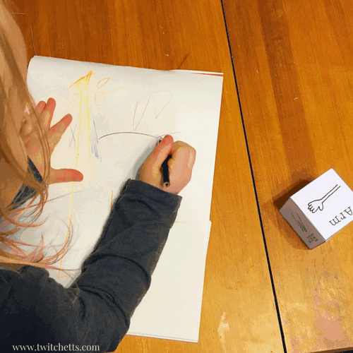 Dice Games for Kids-Printable Dice Pack. Entertain preschoolers, toddlers, and kindergartners with these fun dice games. use the gross motor dice to get your wiggles out. Use the shapes and drawing prompts to explore creativity! Mix and Match for a variety of games!