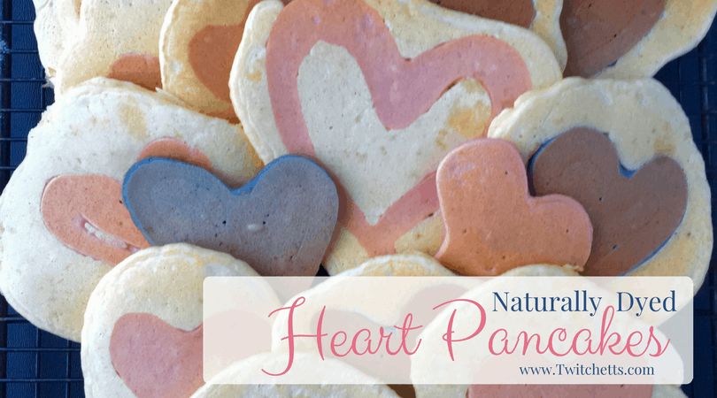 These Naturally Dyed Homemade Pancakes are perfect to make for Valentine's Day Breakfast! These heart pancakes can make any breakfast special!