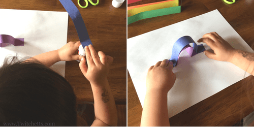 Rainbow Art made from construction paper. These easy construction paper crafts for kids will help teach your child to wait for the glue to dry. Construction paper Rainbow crafts for kids.