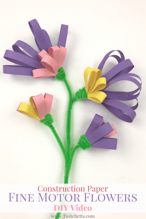 Construction paper fine motor flowers video twitchetts these construction paper flowers are so fun to make they help with fine motor skills mightylinksfo