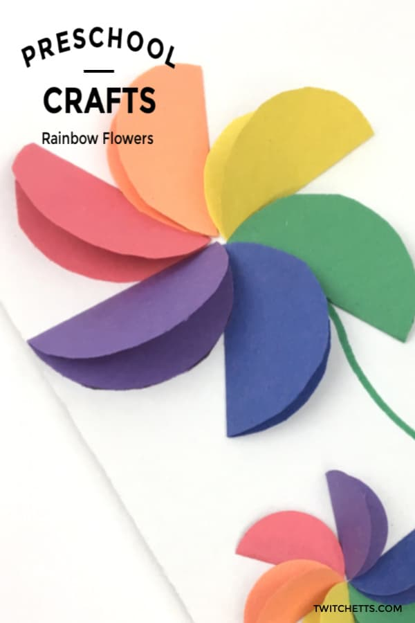 A great rainbow craft for kids. Great for kids card making or everyday crafting. #twitchetts