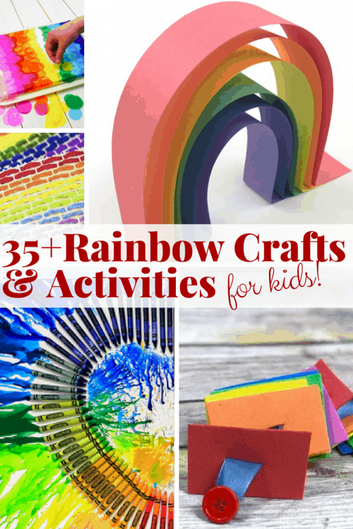 Rainbow crafts and rainbow activities. Create educational fun, rainbow toys, find rainbow books, and be inspired by all things rainbow in this roundup of over 35 rainbow kids crafts and fun kids activities.