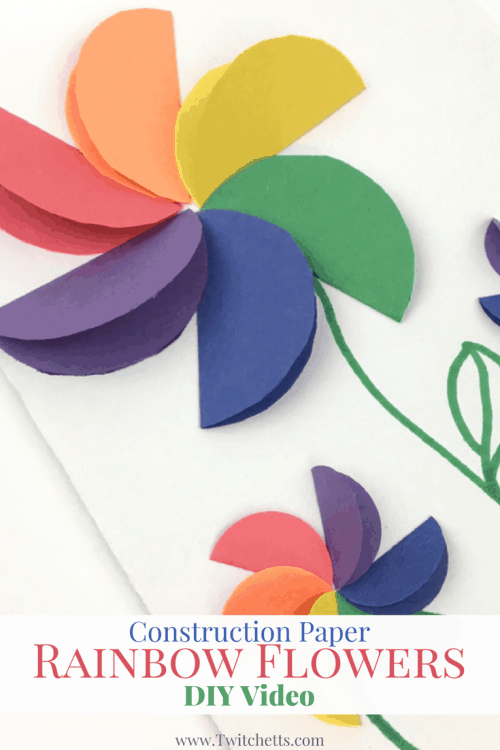 Construction paper rainbow flowers video twitchetts check out this paper flower tutorial video these rainbow flowers are fun and easy to mightylinksfo