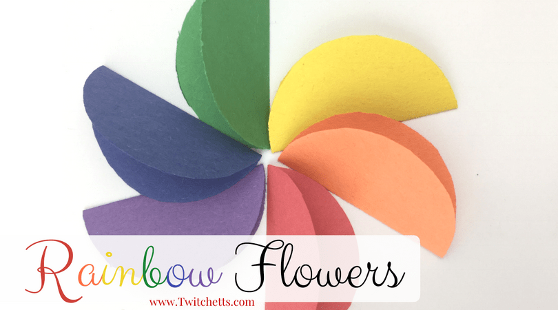 How to make easy rainbow paper flowers for kids twitchetts mightylinksfo