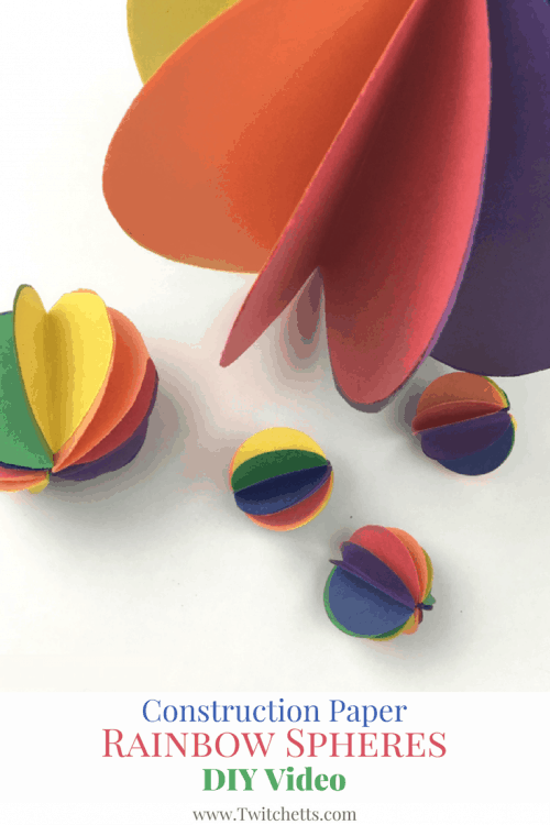 A quick DIY video to make these paper rainbow spheres. These paper baubles are so cute to have hanging around in your home!