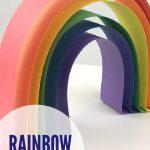 "3D paper rainbow. Text reads ""Rainbow Craft Ideas"""
