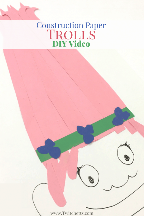Construction Paper Strip Trolls Video Twitchetts