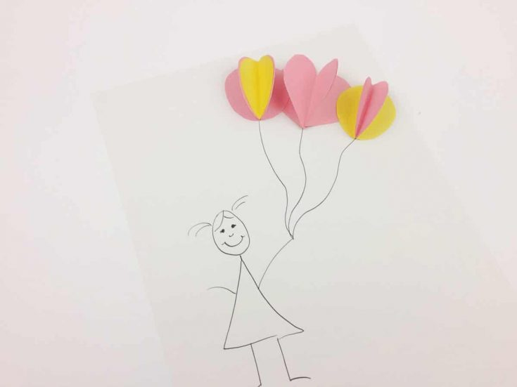 Construction Paper 3D Balloon Drawing Video