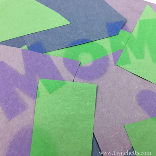 Create unique mother's day cards with sun faded art. These construction paper crafts are faded in the sun to reveal a fun message for mom.