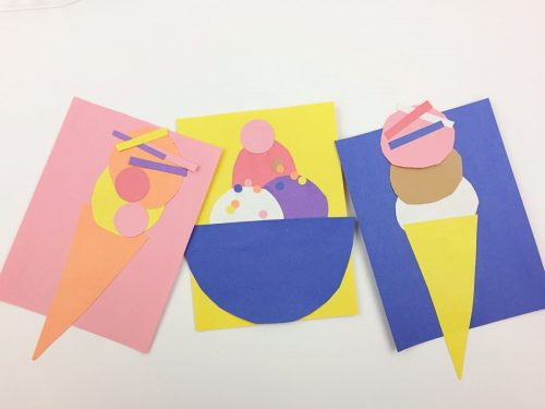 This ice cream shop is a fun invitation to create for your kiddos! Construction paper crafts for kids!
