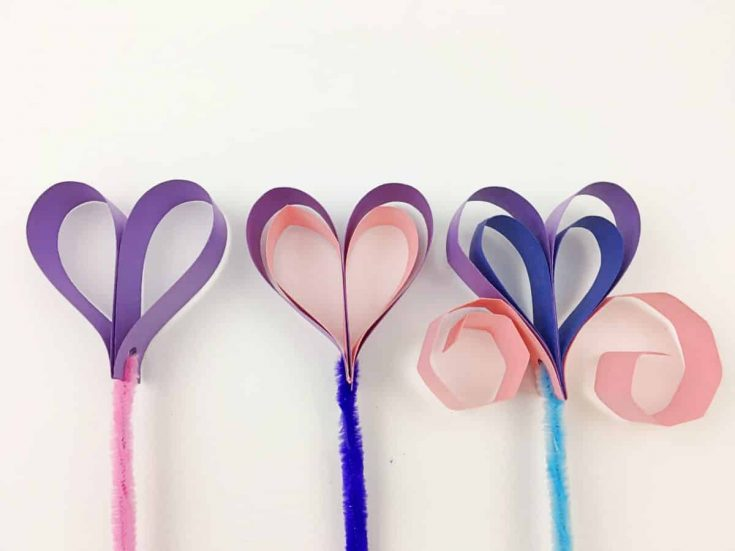 Construction Paper Heart Wands Video