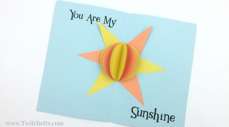 Construction Paper 3D Sunshine Card Video