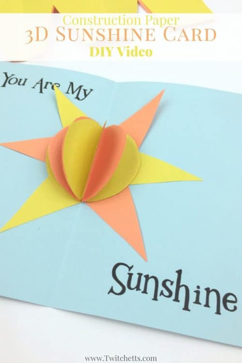 This fun 3D Card is great for kids to make! A fun construction paper craft for kids of all ages. Perfect to send to any loved one.