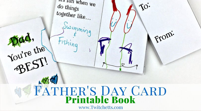 Printable Card For Dads Father S Day Book Twitchetts