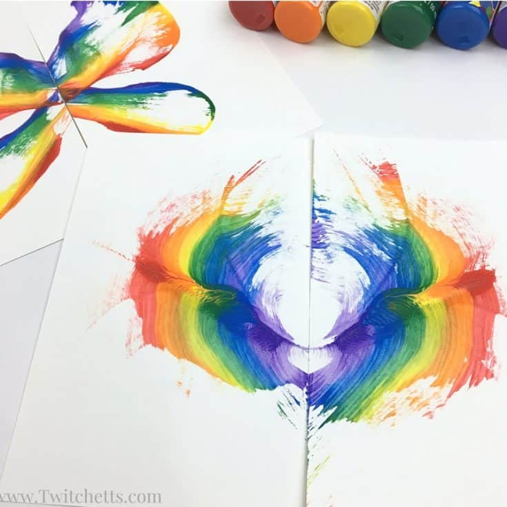 Rainbow String Painting Tutorial