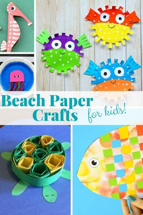 There is something about beach paper crafts that screams summer. From fish paper crafts, under the sea paper plate crafts, to turtle crafts and other ocean animal crafts. We hope you get some fun beach craft inspiration!