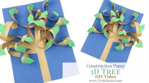 Construction Paper 3d Tree Video Twitchetts