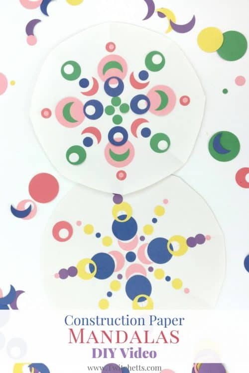 These Kid Mandalas are a fun way to play with shapes and colors. This construction paper craft is a fun afternoon craft.