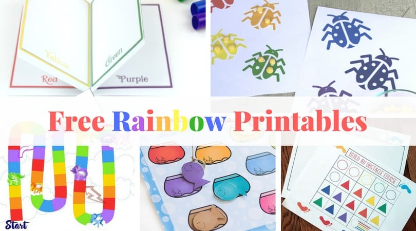 These free rainbow printables are perfect for a lazy afternoon or for a quick lesson in counting, reading, or color recognition.