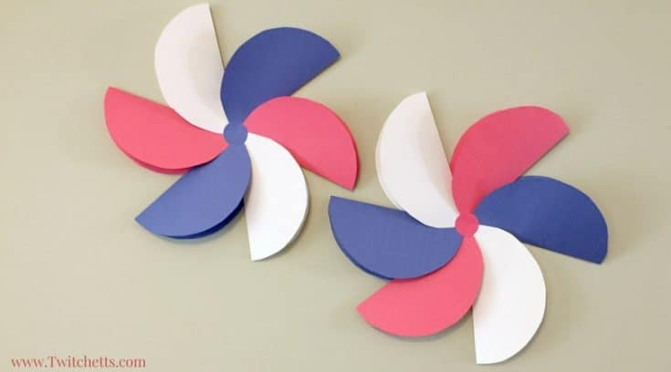 Giant patriotic paper flowers