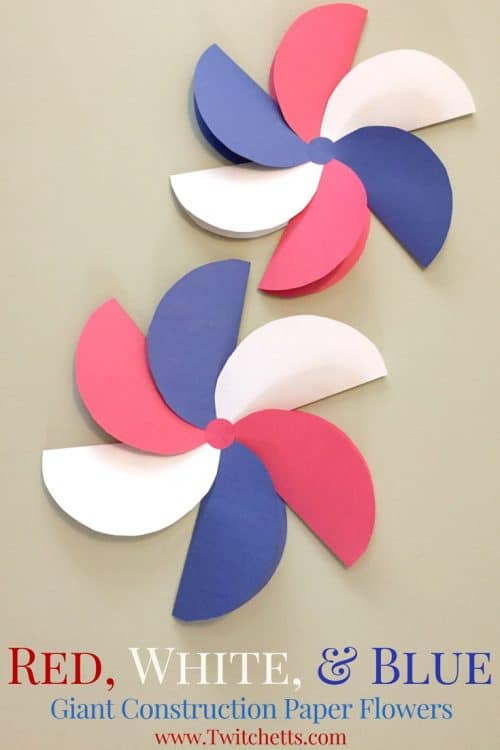 Giant construction paper flowers patriotic crafts for kids create these amazing giant construction paper flowers in red white and blue they are perfect mightylinksfo