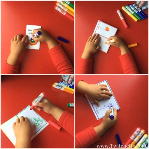 Teach rainbow colors using this free printable rainbow booklet. Print out the rainbow activity and let your child draw the colors of the rainbow.