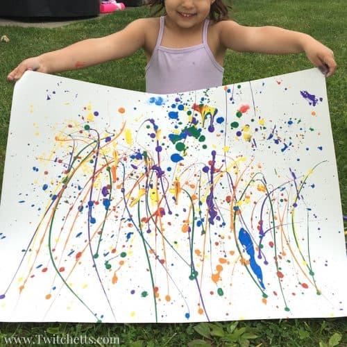 Splatter Paint is a fun process art for kids. Using rainbow colored paints and pipettes you can create this amazing rainbow paint splatter art project for kids.