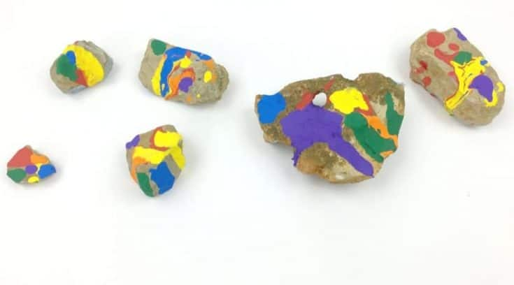 Rainbow Painted Rocks