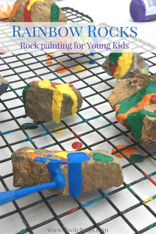 Stone painting for you next rock hunting adventure? Check out how we created rainbow painted rocks for kids.