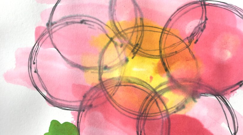 Fidget Spinner Art ~ Watercolor circles