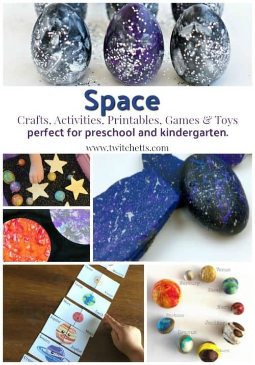 Space Theme Inspiration Crafts Activities Printables