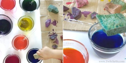 Stumped on how to color rocks? This spin on stone painting for kids is a quick and easy way to add color to your rocks before your paint them. Perfect to give as gifts, go rock hunting, or add to your rock collection.