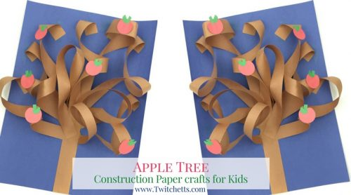 This Constructions Paper Tree Is A Fun 3d Construction Craft