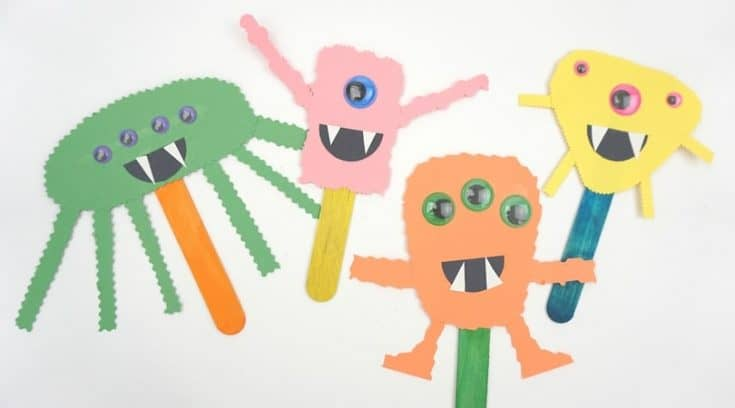 How to make a simple construction paper monster craft