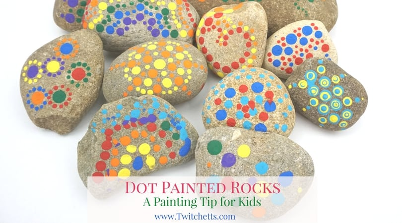 Dot painting on rocks is a style of stone painting that can be found all over. Using this DIY dotting tool, even kids can join in the fun. Create colorful mandalas, bright flowers, or just a collection of colored dots.