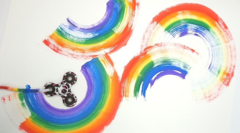 Fidget Spinner Rainbows ~ Hand Spinner Art