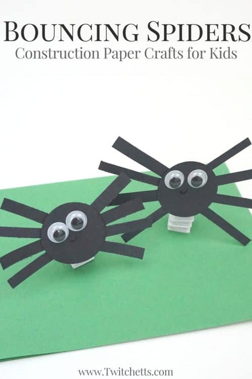 How to make fun bouncing construction paper spiders for What does punch out mean in construction
