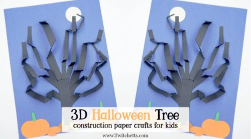 A 3D Tree that perfect for Halloween. Use construction paper to create acute and creepy paper tree that stands out!