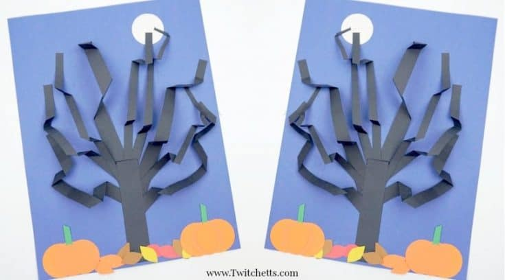 How to make an amazing 3D Halloween tree out of construction paper