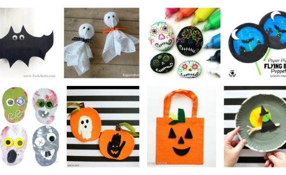 Halloween Crafts for kids - witchets, ghosts, and bats oh my! Get inspired with these fun Halloween kids crafts!