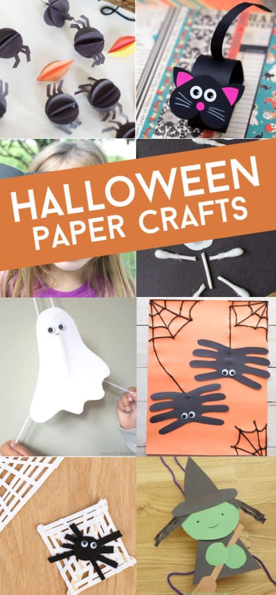 Halloween construction paper crafts are an easy way to get creative during this spooky season. These crafts are kids approved and loads of fun! Bats, spiders, vampires, pumpkins and more!
