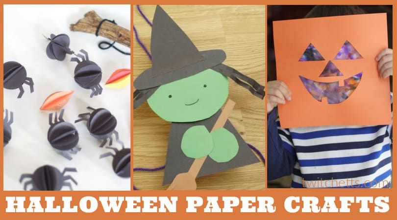 Halloween paper crafts for kids