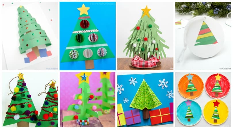 Construction Paper Christmas Trees