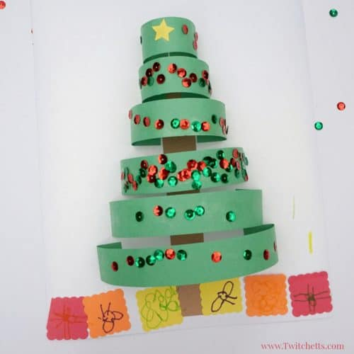 How To Make A Fun 3d Paper Christmas Tree Craft Twitchetts