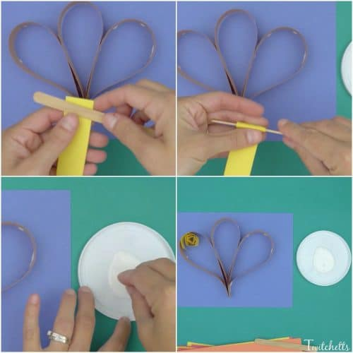This construction paper quilling turkey can introduce a fun new technique to your kids while creating a fun Thanksgiving craft!