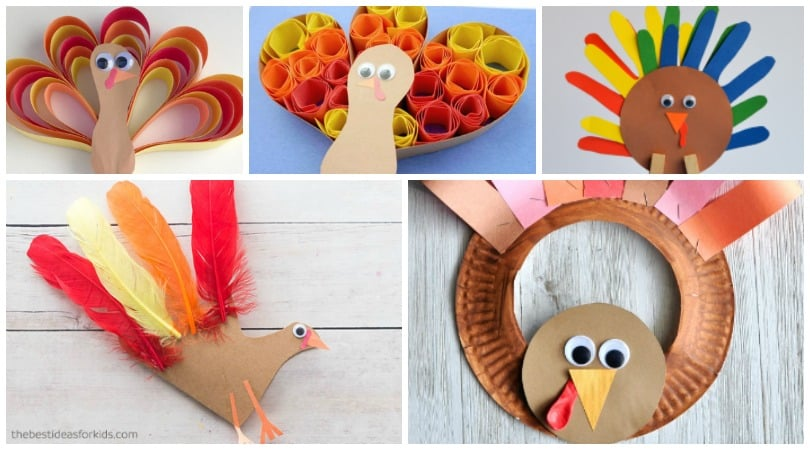 11 Construction Paper Turkeys ~ Thanksgiving Crafts for Kids