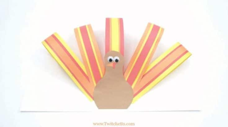 How to make an easy paper turkey craft with kids