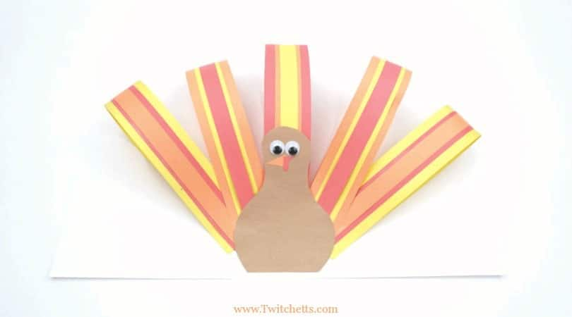 Easy Paper Turkey ~ Thanksgiving Crafts for Kids