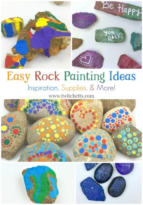 Easy Rock Painting Ideas. Rock decorating techniques from stone painting to construction paper. Perfect for kids and beginner techniques. Favorite supplies too!